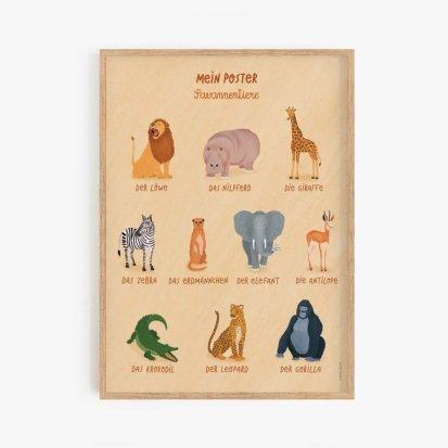"""Poster """"Meine Savannentier-Karten"""""""