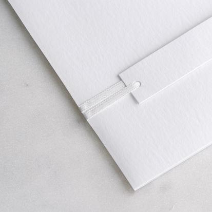 Satinband Weiß 90 cm