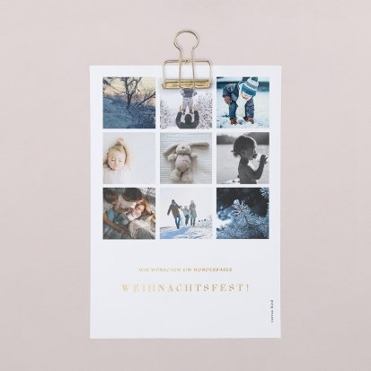 Mini-Poster Happy Snow