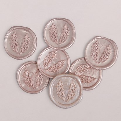 Wachs-Siegel rosa, 3 cm