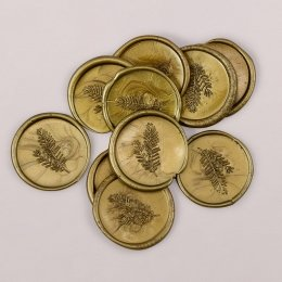 Wachs-Siegel gold, 3 cm