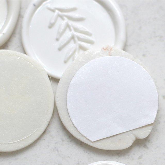 Wachs-Siegel weiß, 3 cm